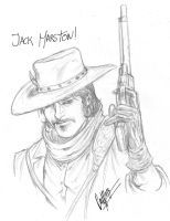 Jack Marston- red dead redemption sketch by andrecoelhoart