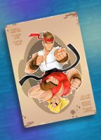 street figther_card_tribute25years by Andres-Iles