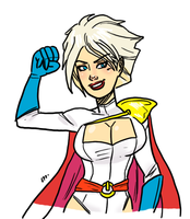 livestream-doodle Power Girl by theEyZmaster