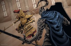 Dark Souls: Artorias vs Ornstein by MenasLG