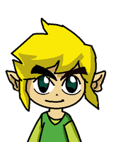 Toon Link from the legend of zelda(request) by MaguiPinkie