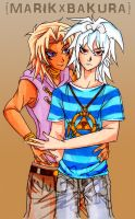 Marik x Bakura color by InjoKEI