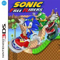 :: sonic free riders 3ds custom cover :: by x-Andy-Sixx-x