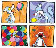 Yelling at balloons. by Scurrow
