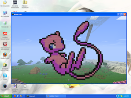 MineCraft Art - Mew by SqueakyTachibana