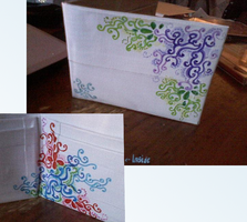 Sharpie'fied Duct Tape Wallet by SilenceWriter