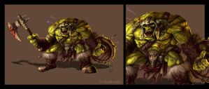 Orc warriors by Amisgaudi