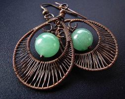 azure fan earrings by Lethe007