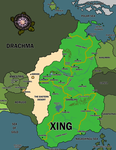 Map of Xing and Surrounding Nations by sonjajade