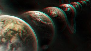 The Planets 3D conversion Red Cyan by Fan2Relief3D