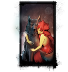 Wolf and Fire (Red riding hood) by Jmc117
