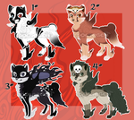 Okami style wolves 2 - 2/4 OPEN by SolarGem