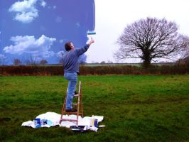 Painting the Sky by LauraPlank