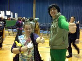 Me with Mighty Gai cosplayer at Sunnycon :D by OtakuRhi