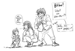 Baggins family doodle by GothicShoujo