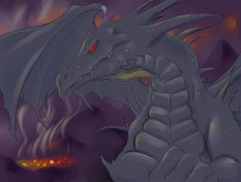 Sventar, the Dark Dragon by RisingDragonArt