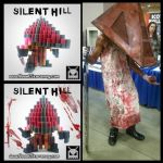 Pyramid Head (Silent Hill) by VoxelPerlers