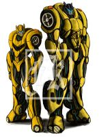 Bumble Bee and Gold Bug by Fahad-Naeem