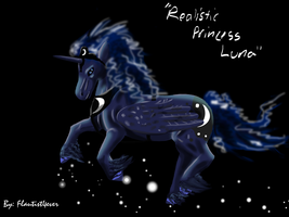 Realisitic Princess Luna by Flautist4ever