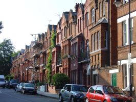 Row houses in Highbury by LunaticDesire