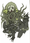Cthulhu doodle by PondHorror