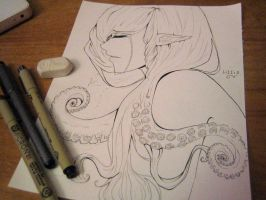 Drawing Challenge Day #2: Amphitrite by pretty-blue-clouds24