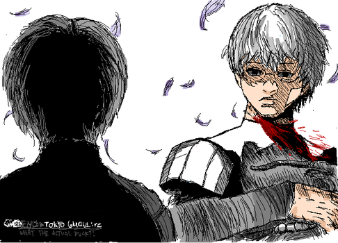 (old) Tokyo Ghoul:re in MS Paint V - Arima/Kaneki by chickiefootwo