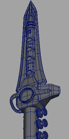 Dragon Dagger Wireframe by rmtrammell