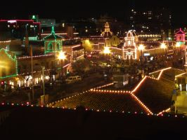 The Country Club Plaza Lights--People Walking by DecThePixter