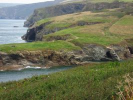 Port Isaac Cliffs by psychedelicMage