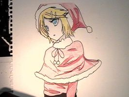 Rin in a Santa Suit by annaxichigo