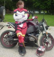 Elza with Motorcycle by sewingbikergirl