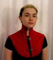 Red Wool Collar Front View by OLIVESELKIE
