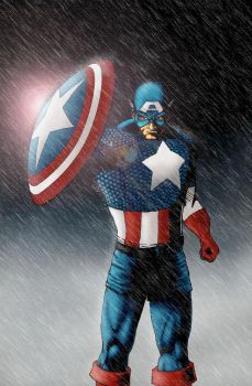 Captain america cover by WyZper