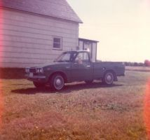 Dad's Toyota pickup truck by Ripplin