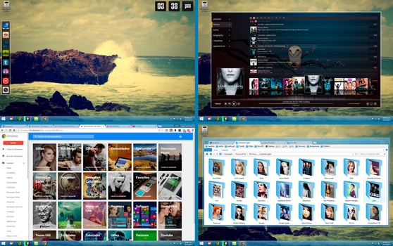 Desktop 2015  (Clover + Bookmark Manager Chrome) by dantenopolis