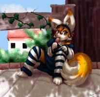 Faia in the shade for extvia by Foxxie-Angel