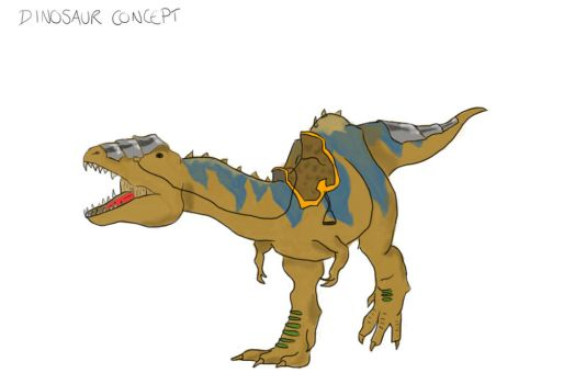 Dinosaur mount concept by GRIMM-SAVAGE
