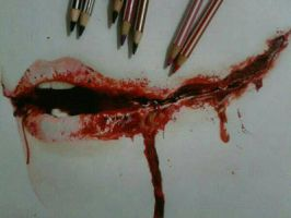 Bloody-Art-Training-Ripped-Mouth by kathlene18blanca