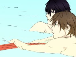 Swimming anime sketch by Silent-Alarm-ororo