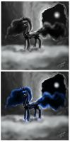 Princess Luna, the Princess of the night by Siberwar