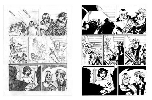 Nathan Never's proof pages - 05 - Layout 'n' Inks by AleMonaco