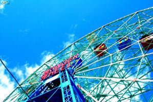 Spring Day At Coney Island 2 by Poet515