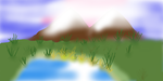 Mountains (before I saw them in real life) by krystacorn