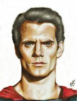 Henry Cavill (Superman) by rommeldrawlines-12