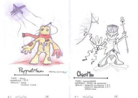 Puppet Man and Chaos Man by megalucanus