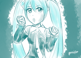 Kickstarter Commission: Miku by FaithWalkers