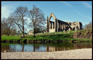 Abbey Across The River by GaryTaffinder