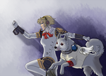 AT: Aigis and Koromaru by Fonora