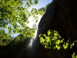 small waterfall by bluster358